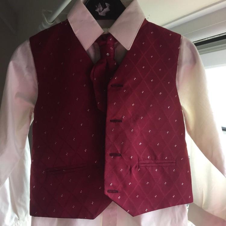 Boys shirt, waistcoat and cravat