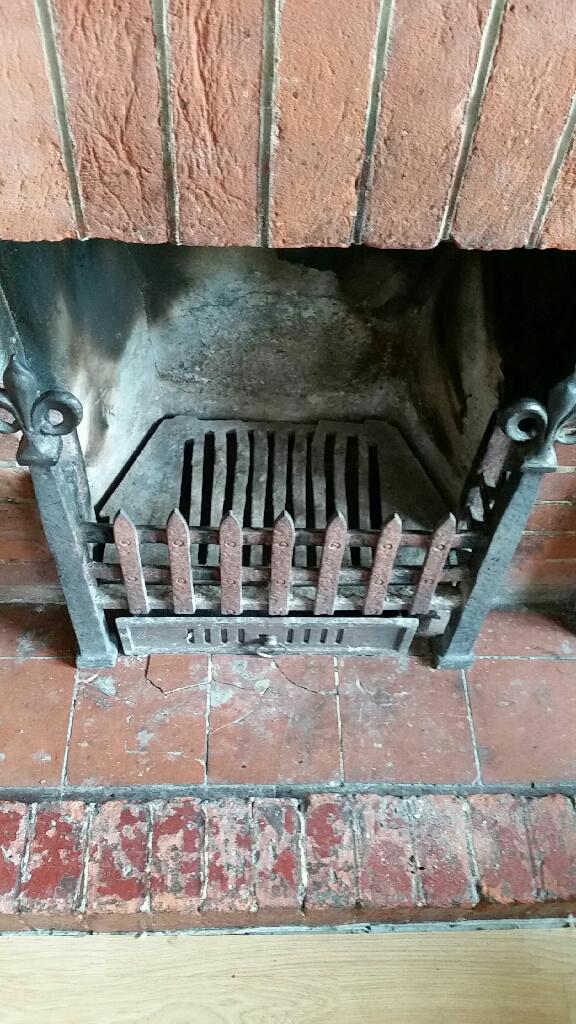 Victorian cast iron fire grate
