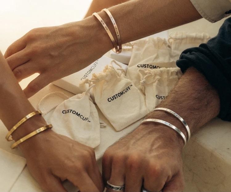 Custom cuffs 10% off using my code below ⬇️