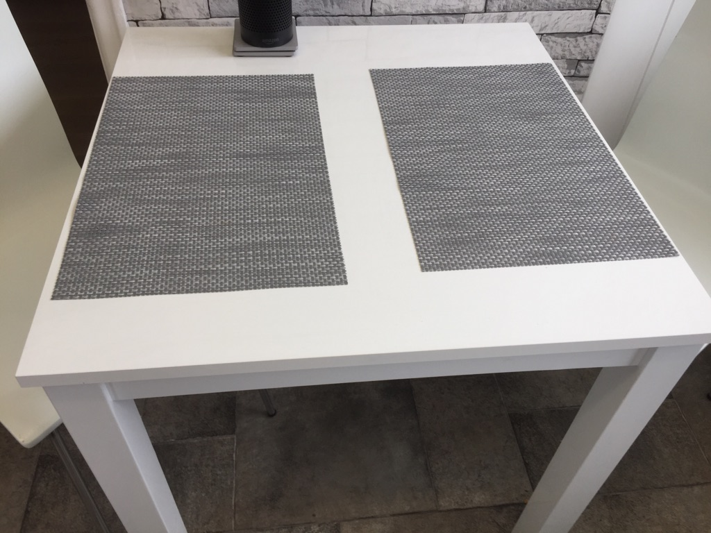 Next white gloss table and two chairs