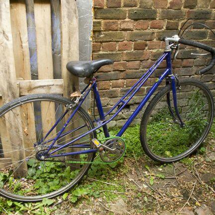 Blue ladies bike