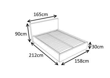 🛌🏻LUNA 5FT Kingsize Faux Leather Ottoman Storage Bed in White 💥£309.99 🚚free delivery.🚚