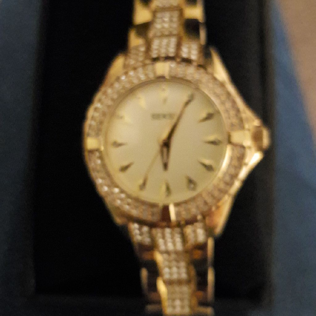 Bnib Ladies seksy gold and diamond watch