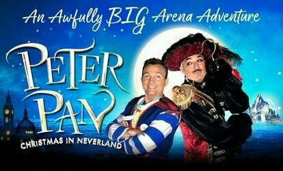 Peter Pan - Christmas in Neverland - SSE Arena Wembley 29th Dec 2017 - 4 Tickets