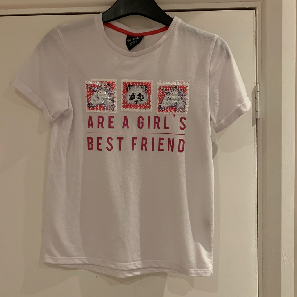 Girls unicorn/panda T-shirt 10-11 years