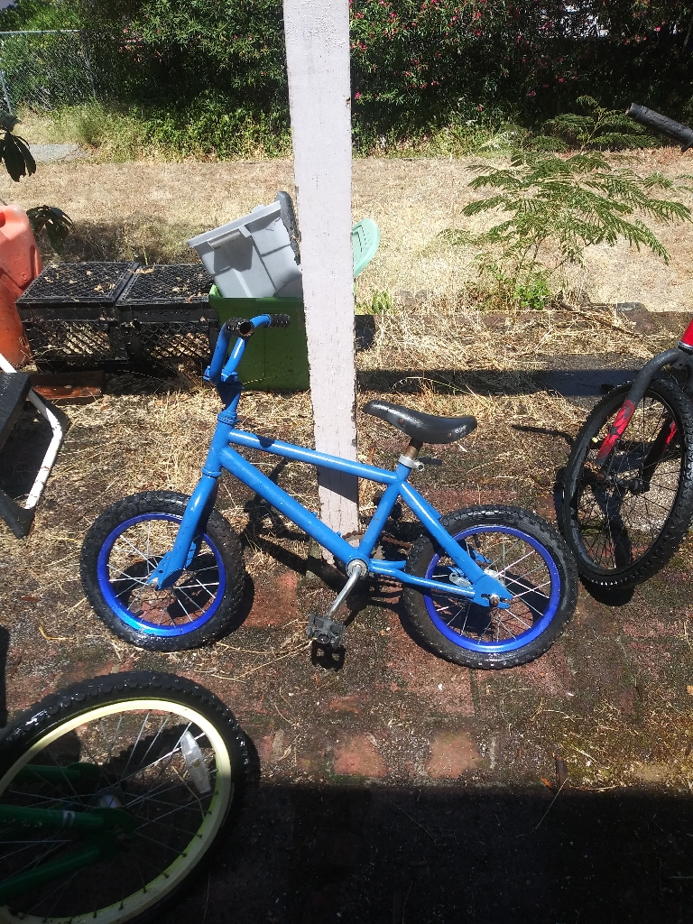 Four children's bikes