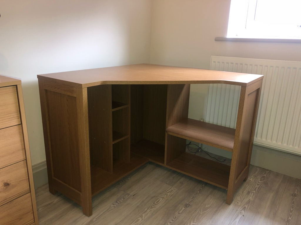 Argos Conrad corner desk in Oak