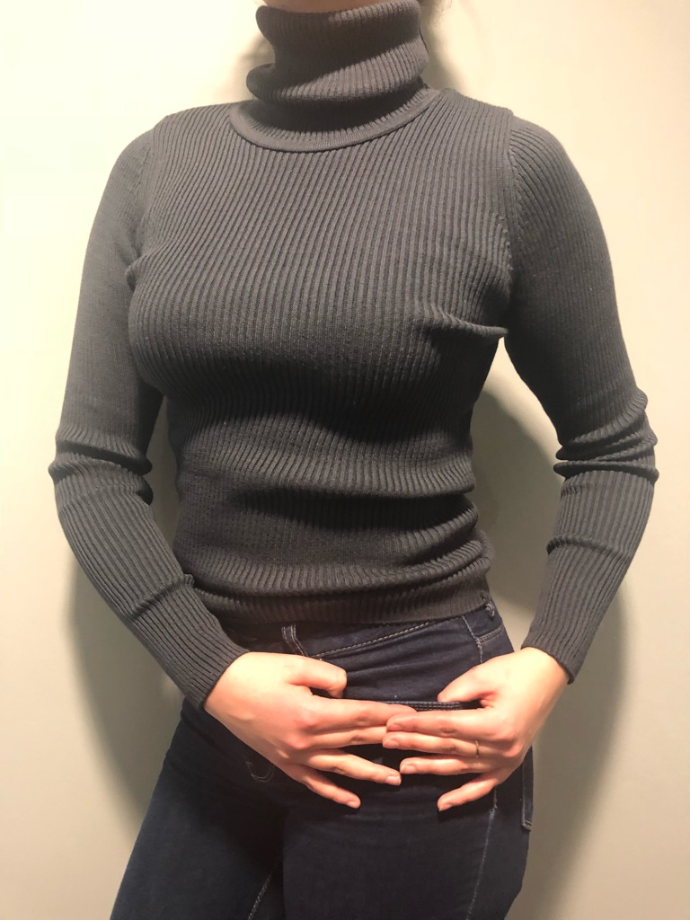 Trendyol Anthracite coloured Ribbed Sweater