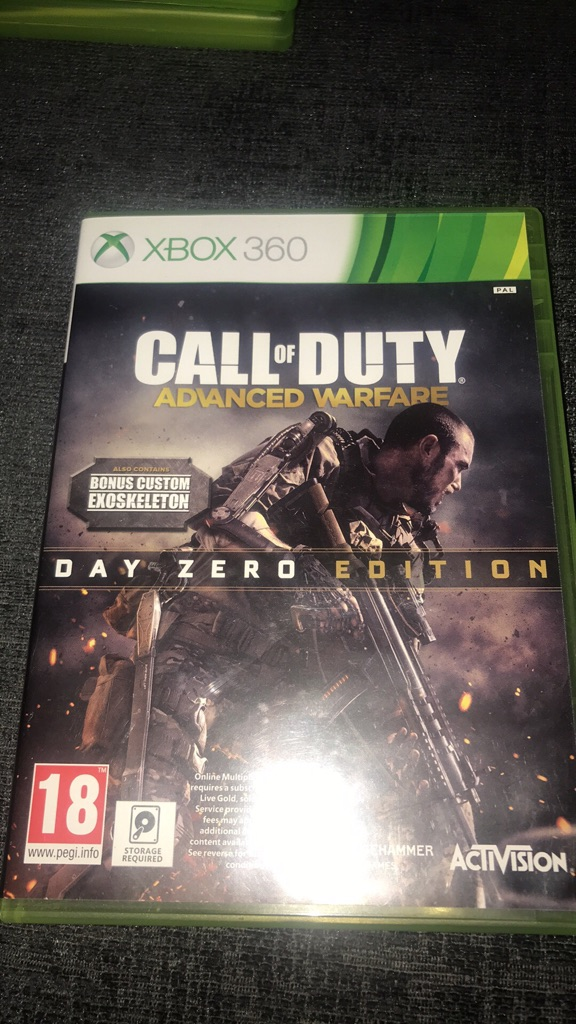 Call of duty advanced warfare day zero edition Xbox 360