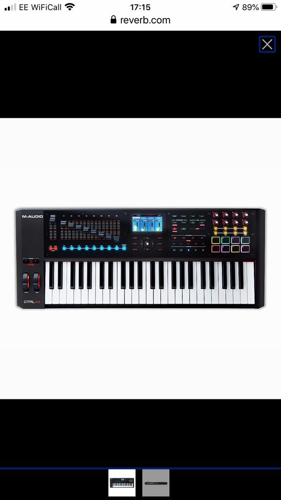 M-Audio CTRL49 keyboard