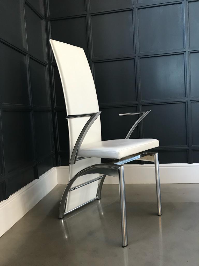 Italian Designer dining chairs x 8