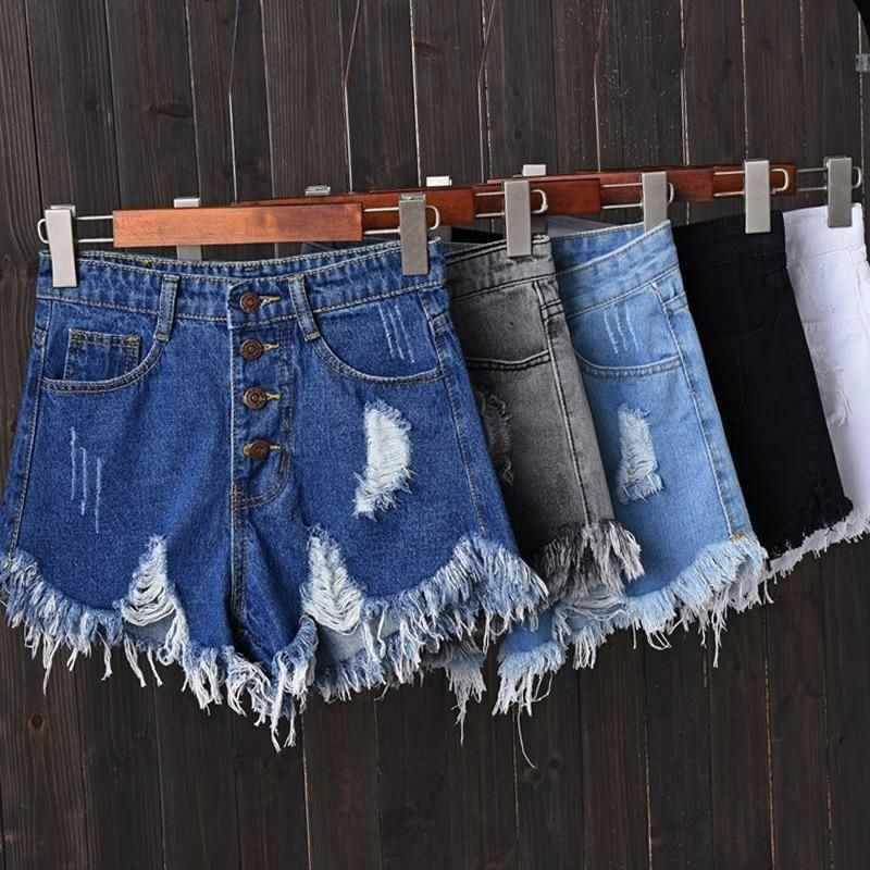 High Waist Ripped Vintage Jeans