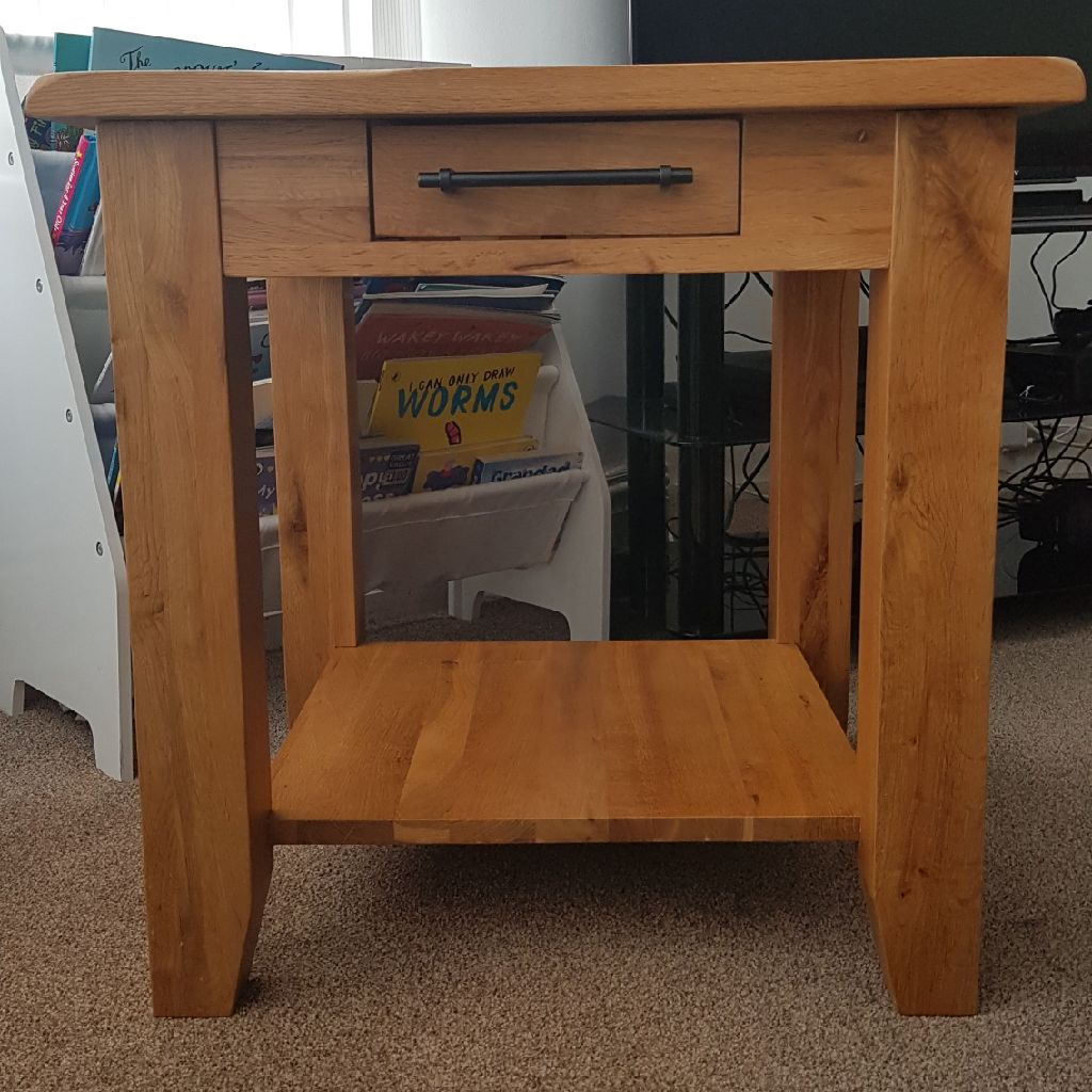 Solid wood, large side table