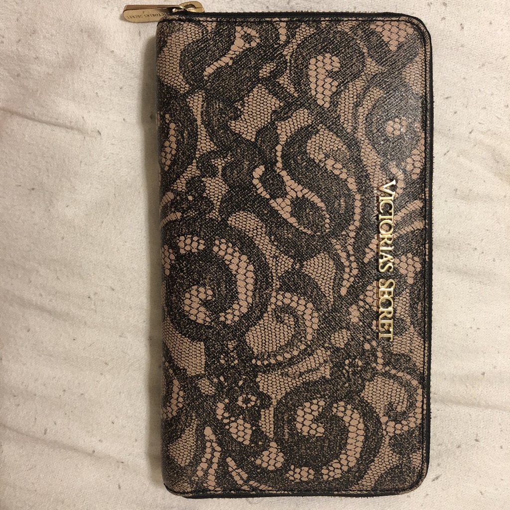 Victoria Secret Genuine Leather Classic Lace Wallet