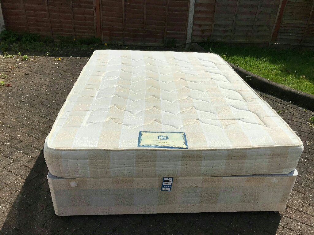 Double spring mattress with base 5ft/190cm x 150cm