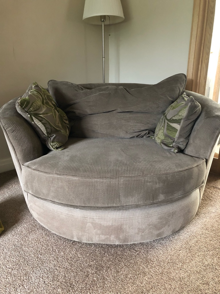 2 x 3 seater sofas for sale and swivel chair