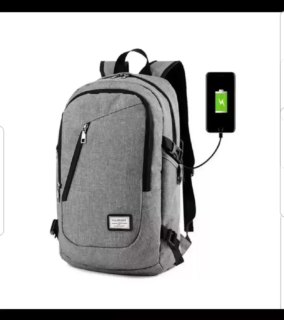 AntiTheft Backpack W/ 3-Digit Lock & USB