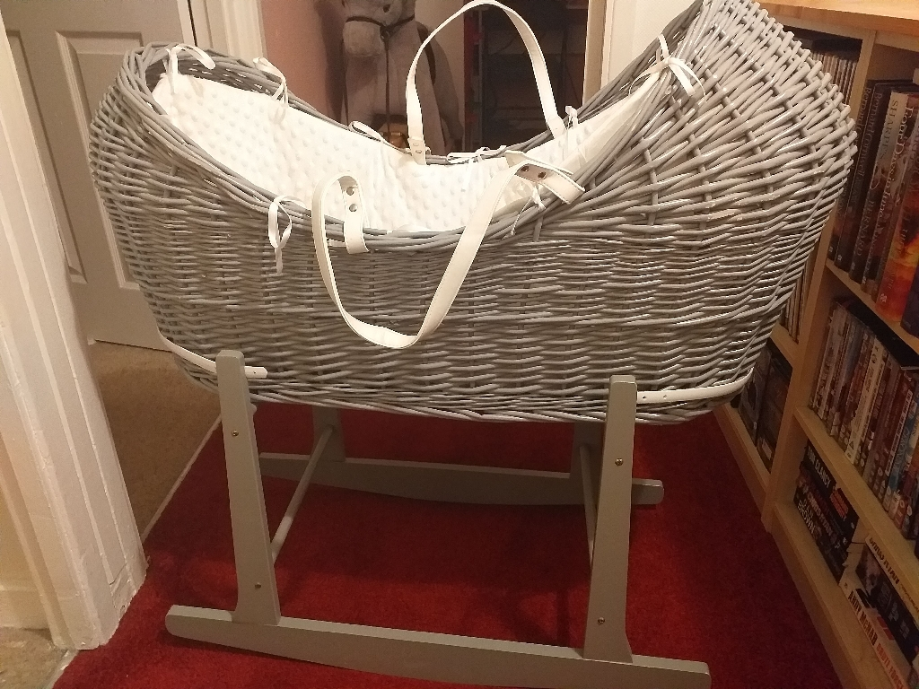 Gray moses basket