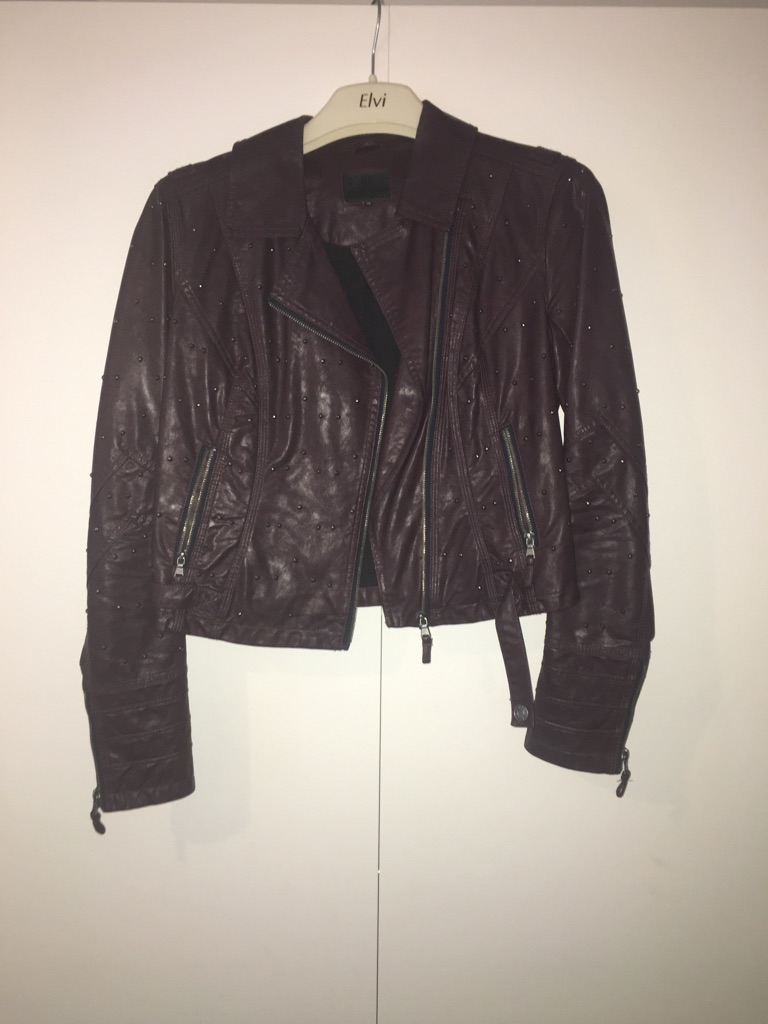 Leather river island jacket