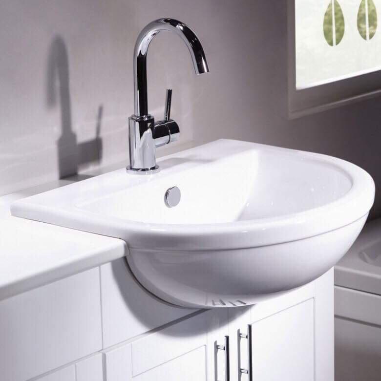 Countertop basin and WC