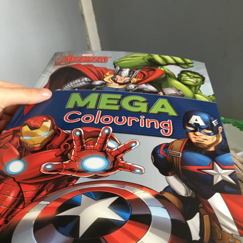 Marvel avengers mega colouring book
