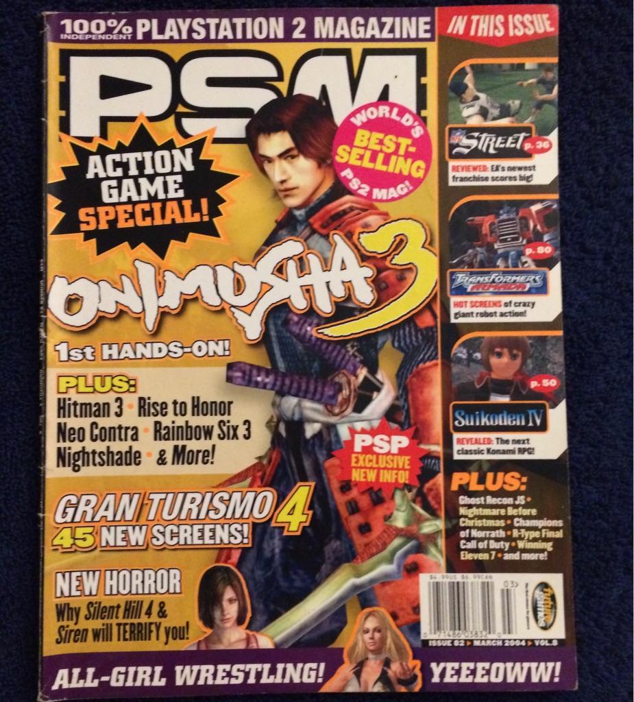 PSM (PlayStation 2 Magazine) Onimusha 3 🗞🎮⛩