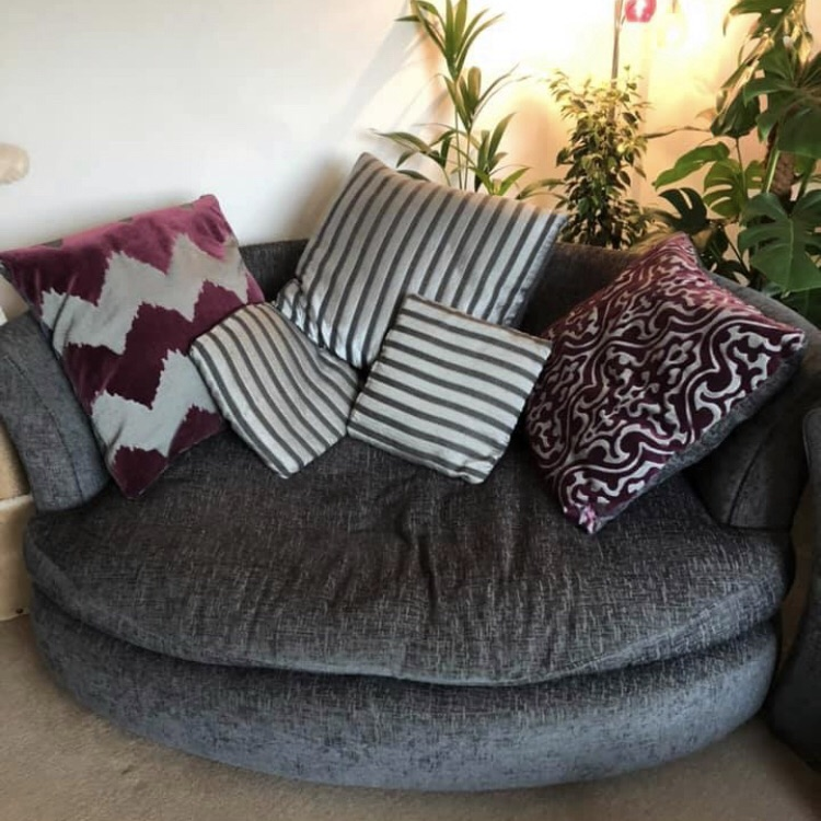 Large two seater round sofa