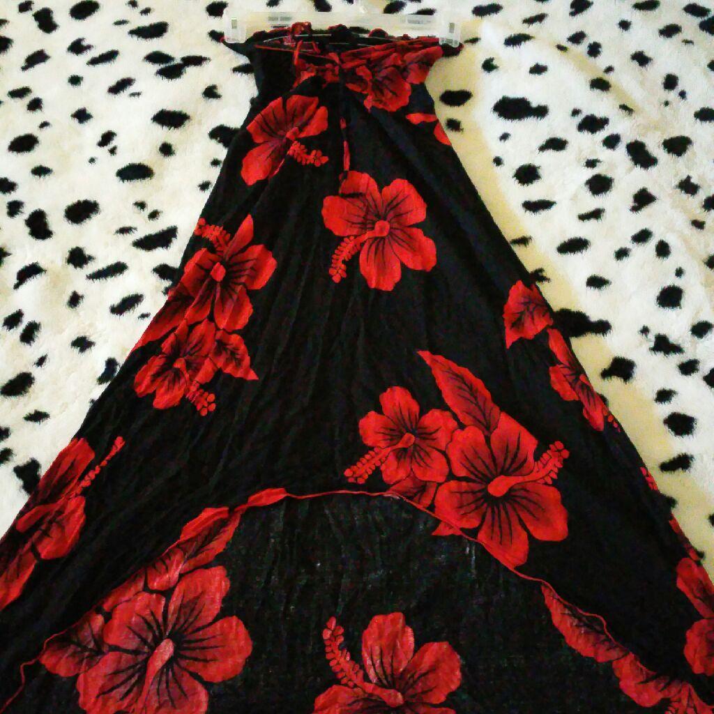 Favant floral strapless dress