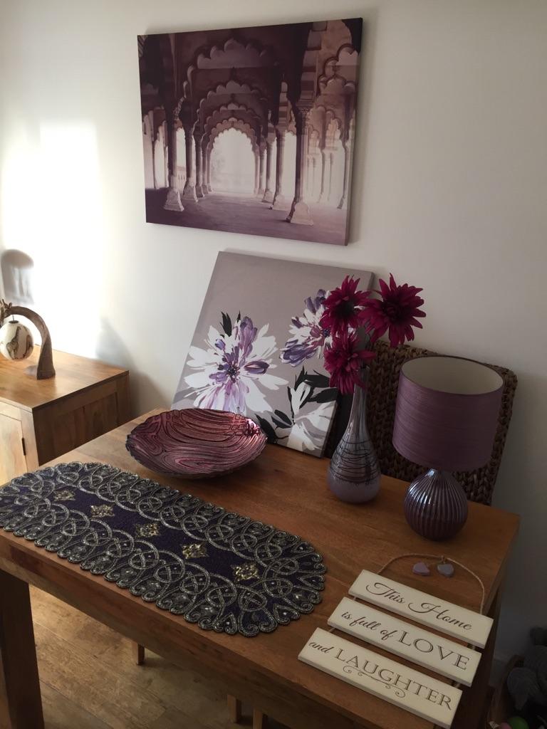 Various purple items