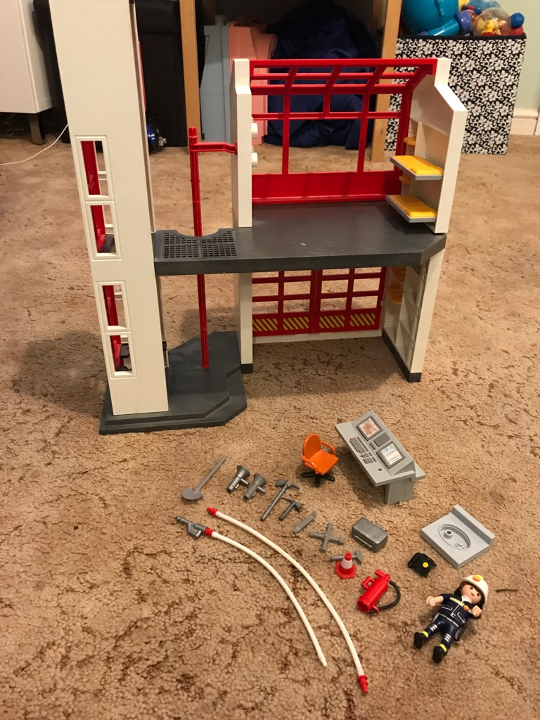 Playmobil fire station 5361 with alarm