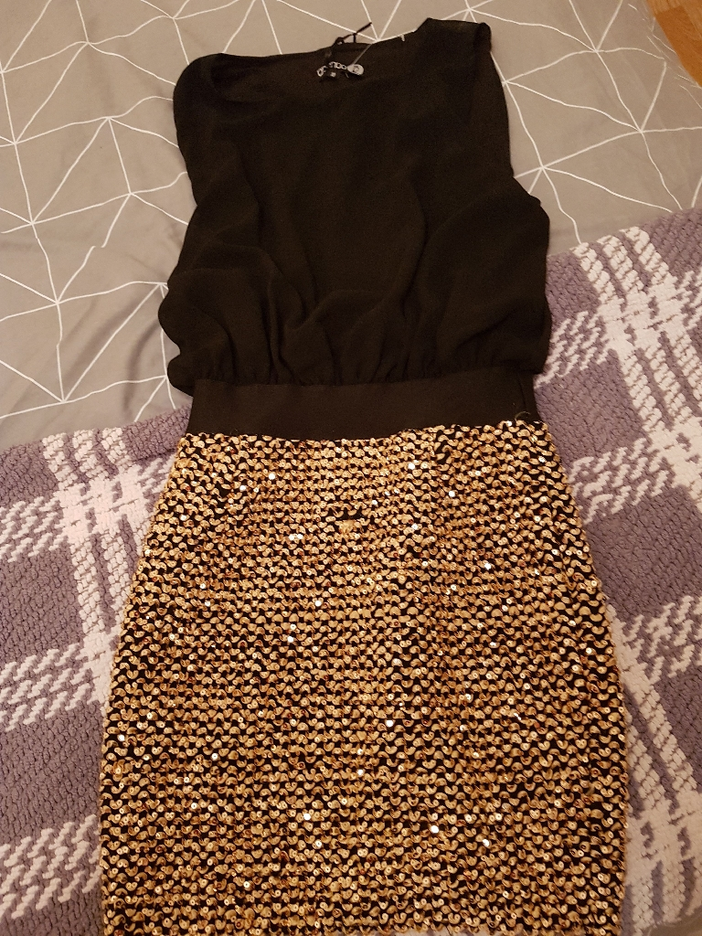 Brand New Gold/Black Dress