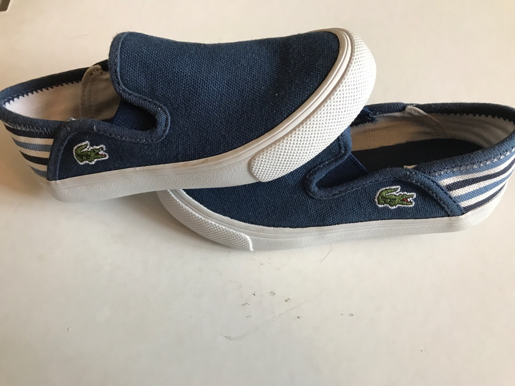 Brand new Lacoste canvas pumps boys size 7