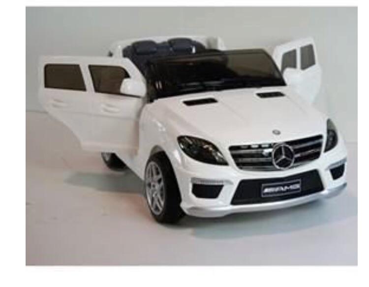 Kids white Mercedes car