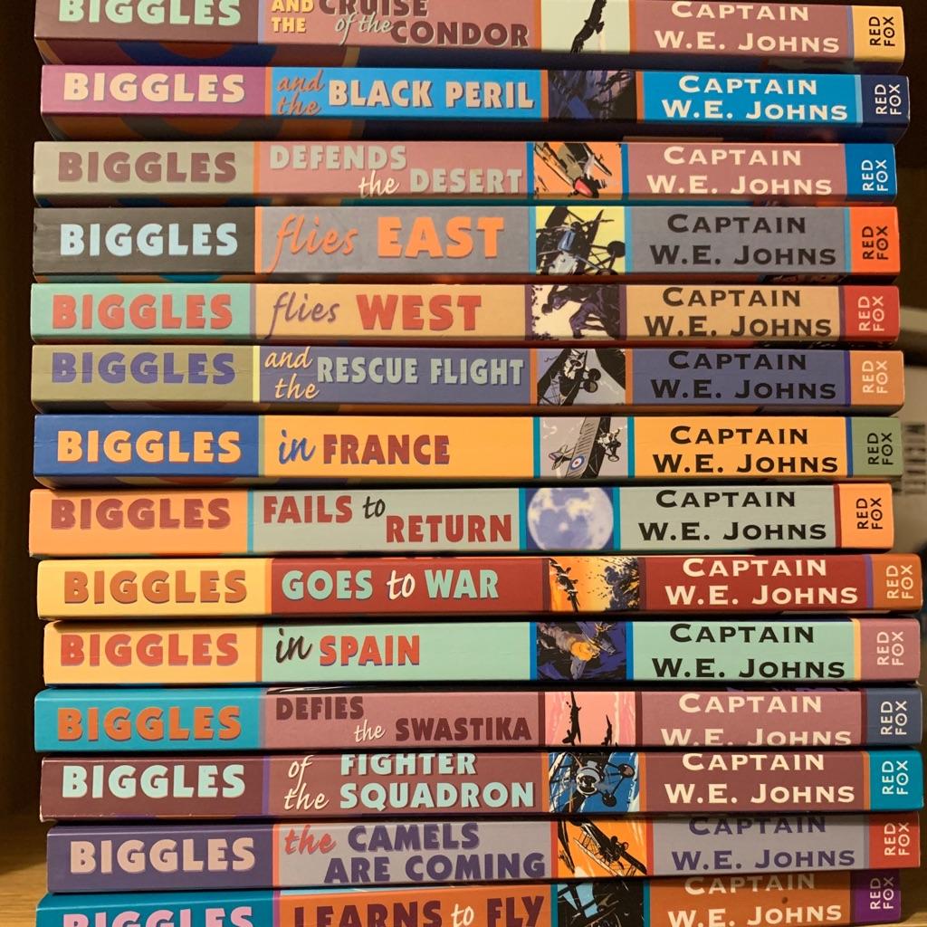 Set of 15 kids biggles paperback