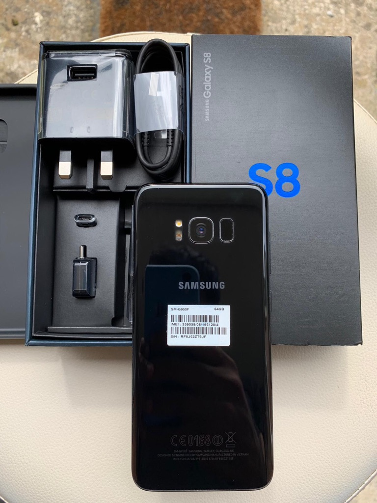 Samsung Galaxy s8 black 64GB brand new mint condition