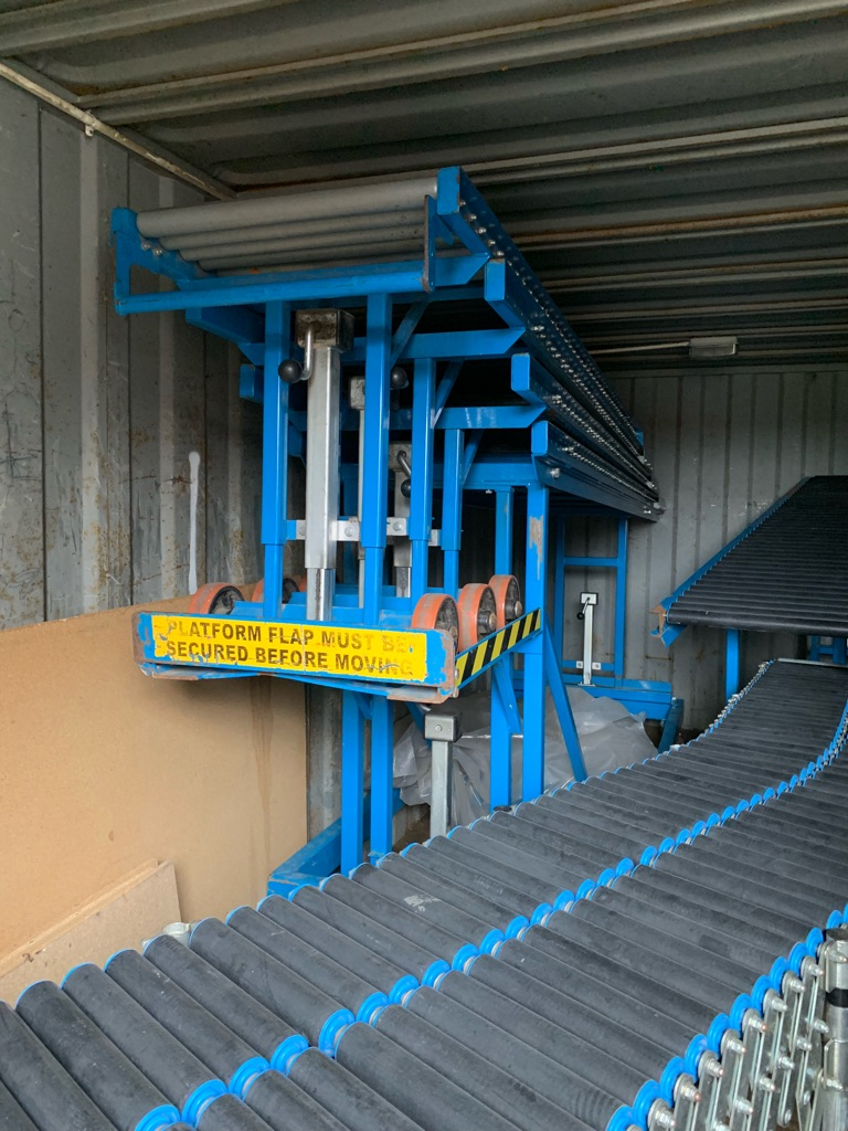 Flexible Conveyor Loading System 40ft Containers Excellent Condition