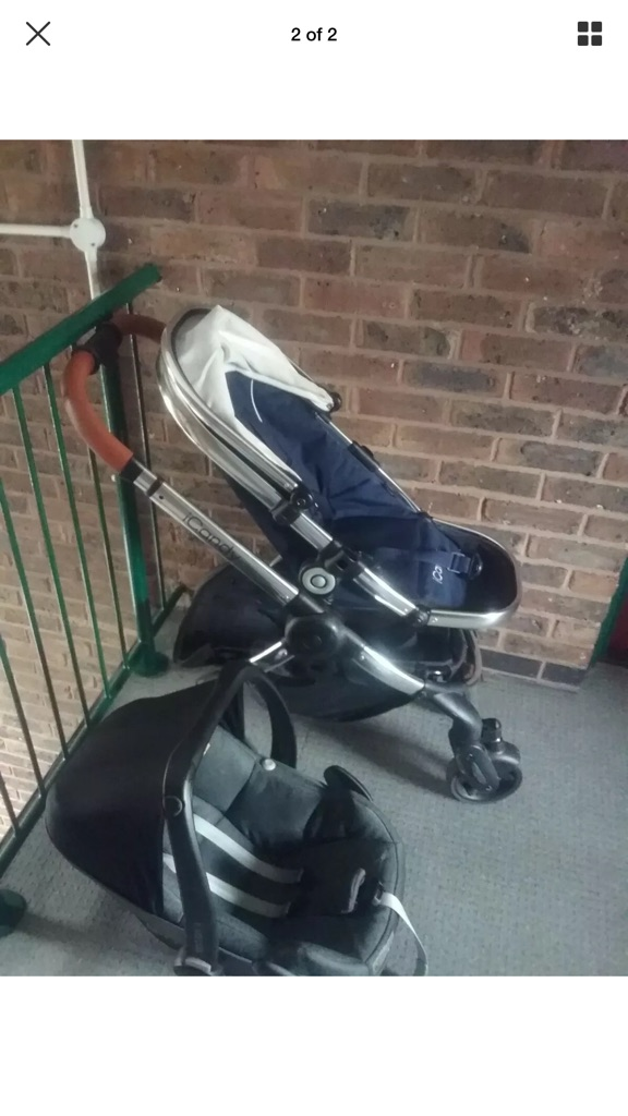 Icandy pushchair with attachable maxicosi car seat