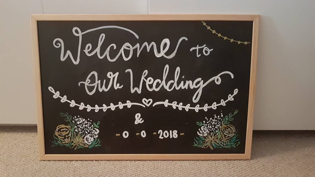 Welcome to our wedding blackboard