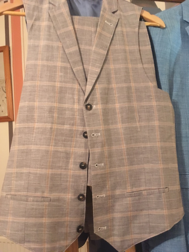 Gents suit River Island trousers & waistcoat
