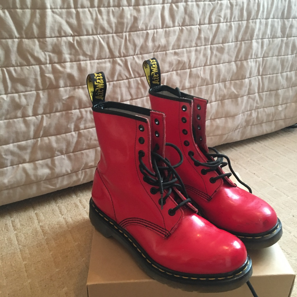 Red ladies size 7 Dr Martens