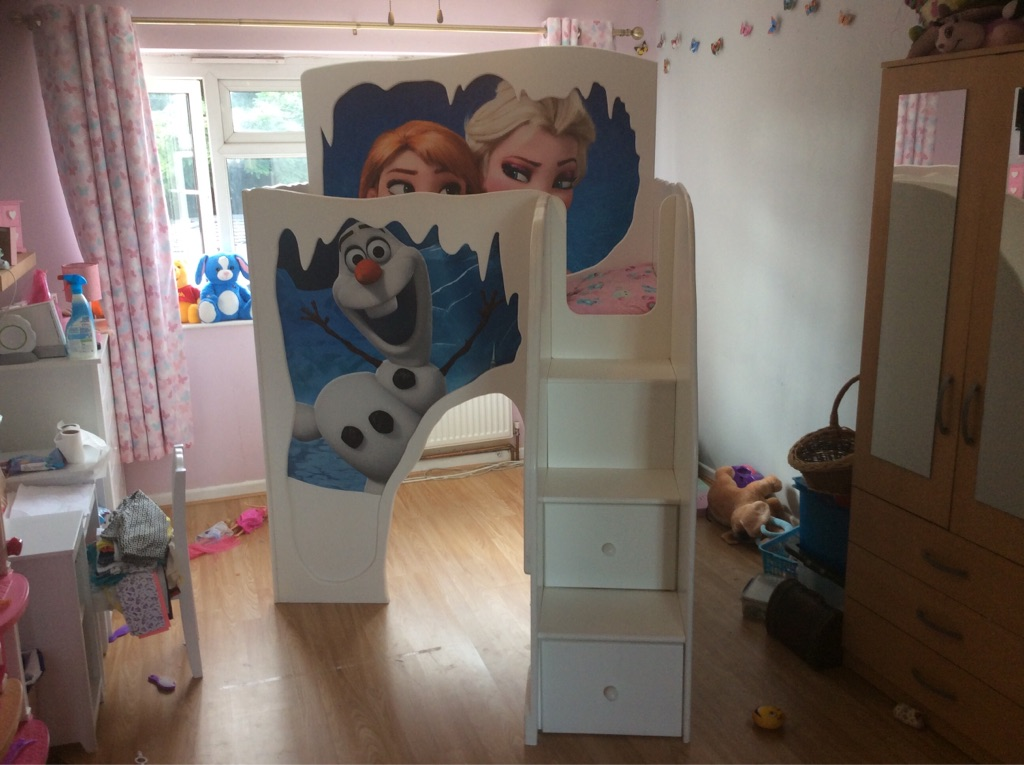 Children's frozen themed bed.SOLD