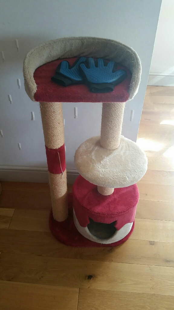 Cat tower and scratching post