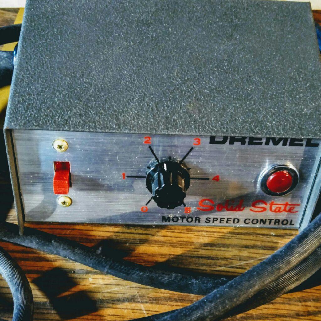Dremel motor speed control