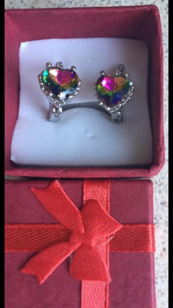 Rainbow 🌈 earrings and Saturn earrings
