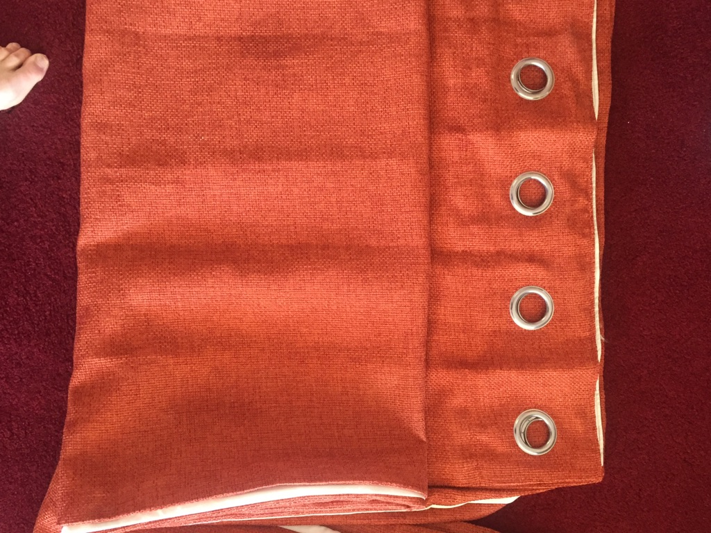Burnt orange next curtains