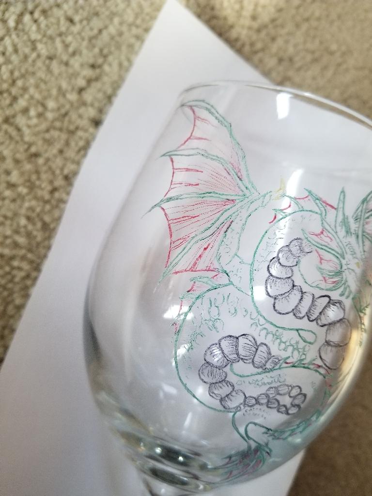 Dragon wine glass