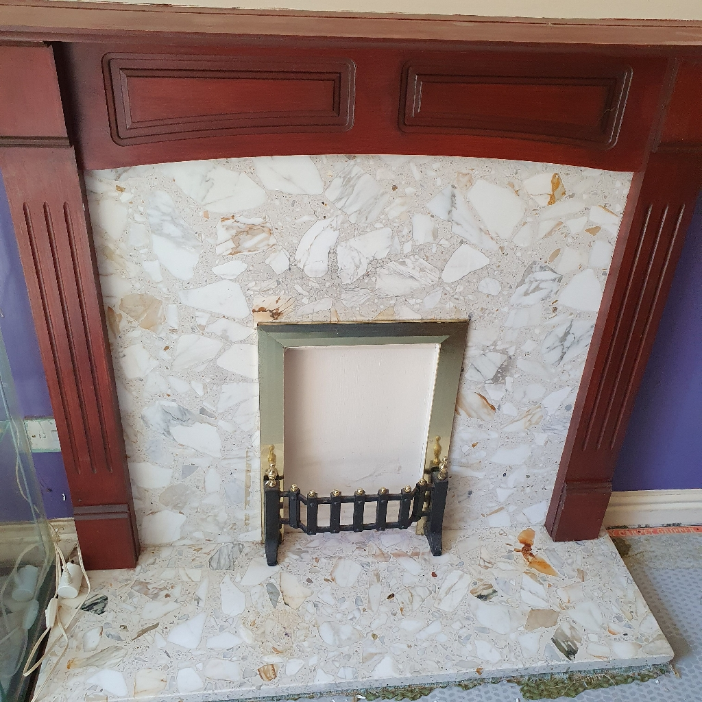 Marble Fireplace with Surround