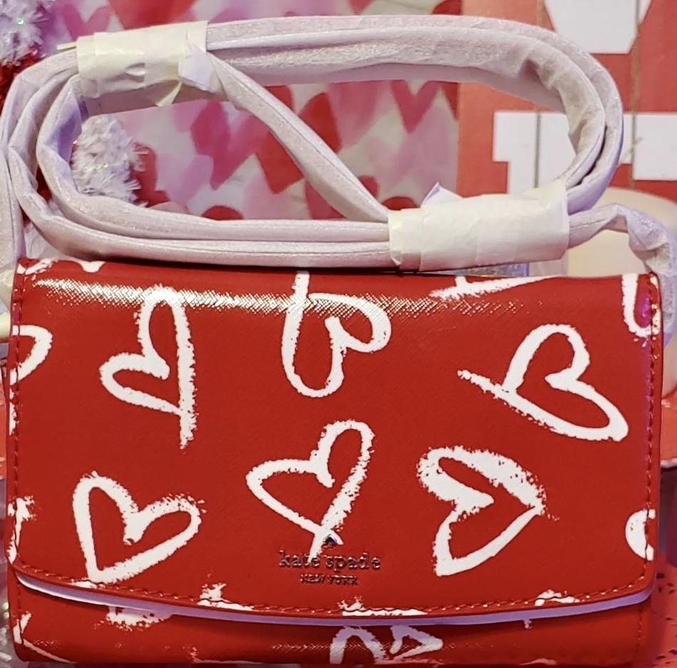 Kate Spade Laurel Way Lipstick Hearts Crossbody