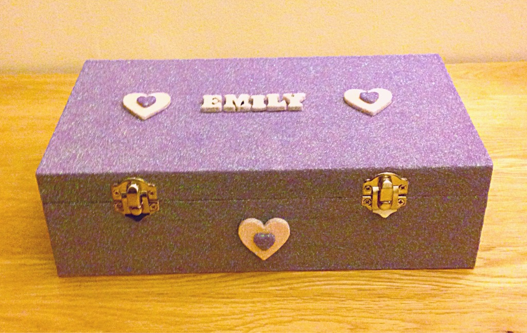 Personalised wooden trinket boxes