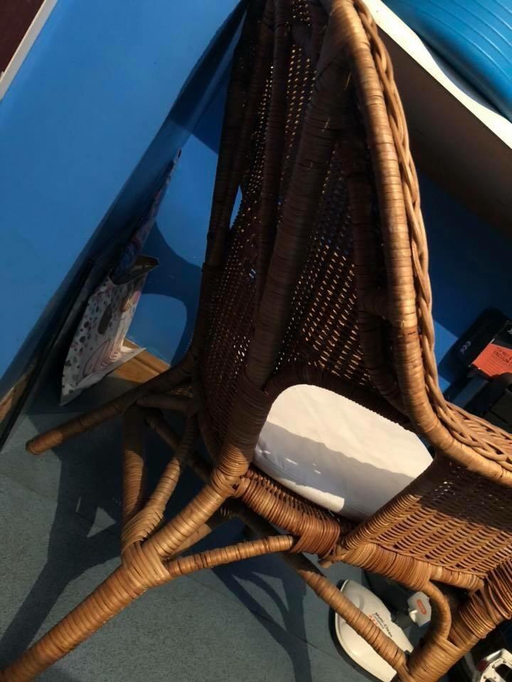Ikea wicker chair